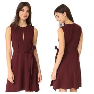 Theory Desza B Dress Dark Currant Maroon